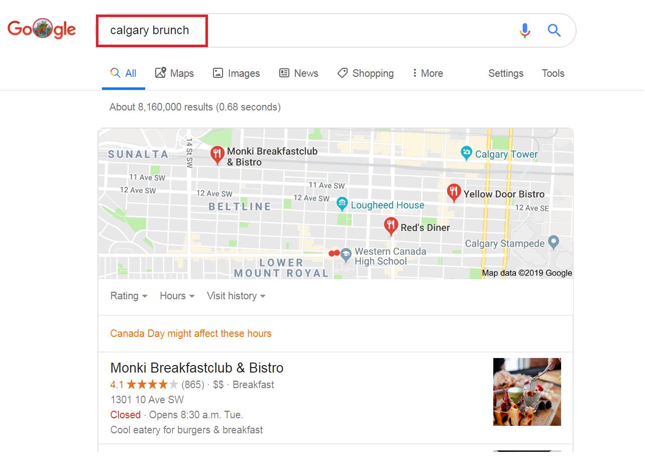 溫哥華餐廳行銷 google review